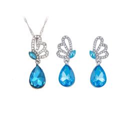 섬세한 펄 Earring Necklaces 보석 상감 Bridal Jewelry Set
