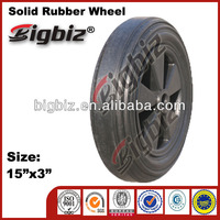 "Buy rubber wheel ,trolley 10"" 16"" solid rubber wheels"