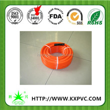 high pressure resistant hot yellow color flexible hybrid air compressor hose rubber/pvc flat air hose