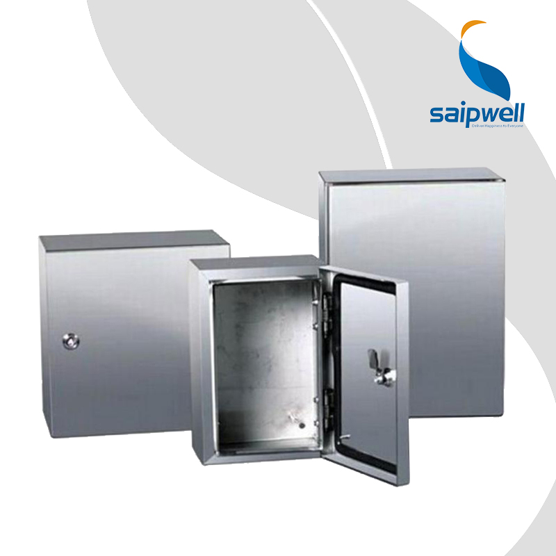 New Design Wall Mounted Metal Enclosure Box 400*300*150 Saip Saipwell Electric IP65 Stainless Steel Enclosure Waterproof