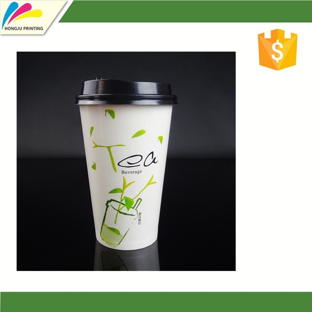 Hot sale Biodegradable disposable Paper Cup with CPLA lid