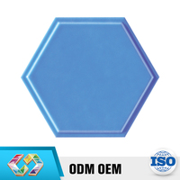 Alibaba China Market Natura Hexagon Sky Blue Glossy Convex National Tile
