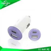 Dual USB Charger Metal Auto Smart Car Chargers Adapter 2 USB Port Sync Charge For Samsung Galaxy HTC Blackberry Nokia