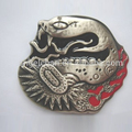 Wholesale customized bulk R-0446-29 40mm back w/teeth cowboy western belt buckle snake with high quality