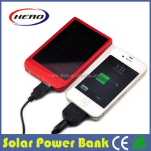 High tech confortable solar charger power bank for mobilephone