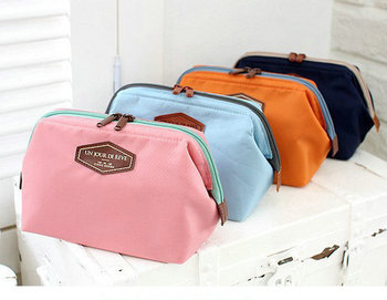 Korea Style wholesale cotton cosmetic makeup bag for toilet