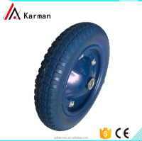 Factory Anti slip and abrasion resistant pu foam wheel 13 inch 3.00-8 for hand truck