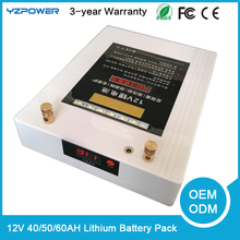12v 40ah 50ah 60ah li-on polymer lithium battery pack for electric bike