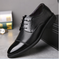 2017 latest europen fashionable hollow out genuine leather gentle dress shoes