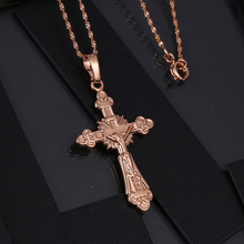 G60 Cheap russian gold religious Jesus cross pendant, wholesale latest design jewellery rose gold pendant