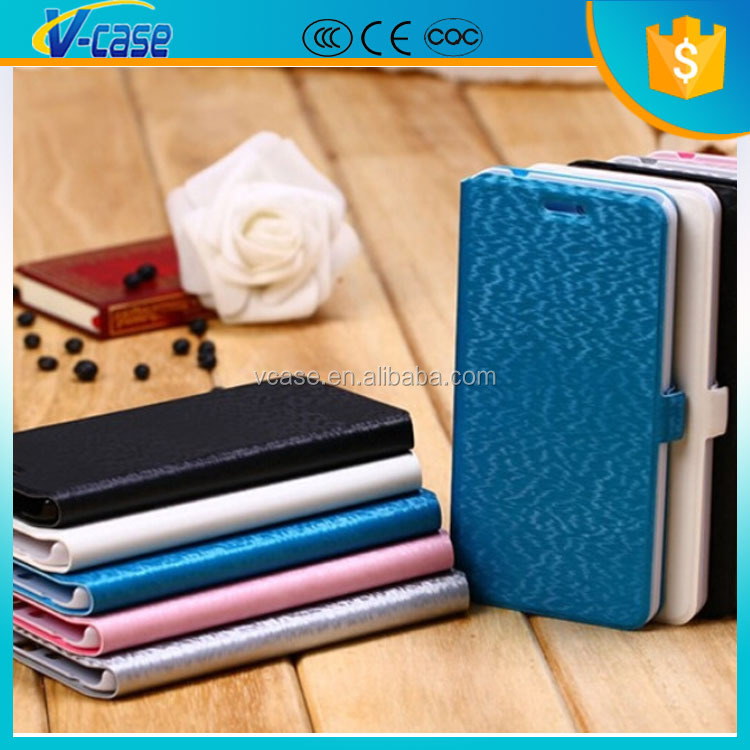 Ultra thin light weight flip leather case for vivo y22