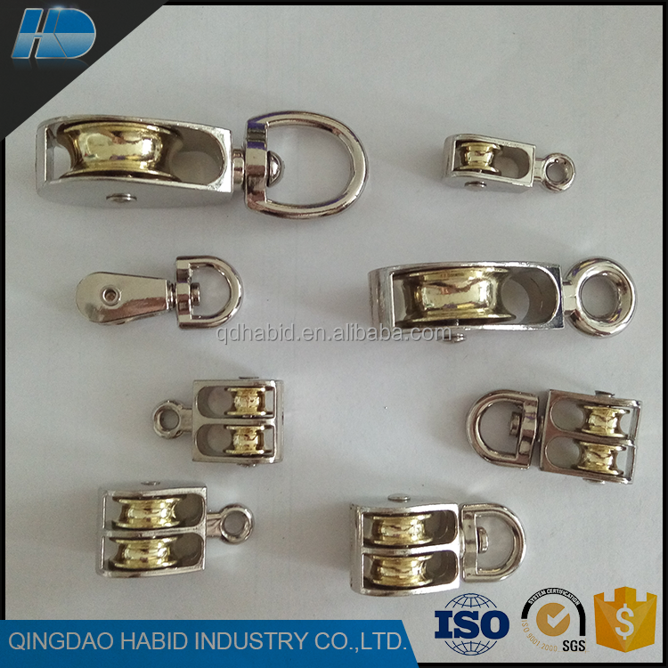 High Quality Small Nickel Alloy Single Rigging Hardware Hot Sale Heavy Duty Nylon Pulley Wheel