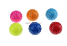 Miniature colored golf ball