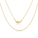 ATHENAA jewelry 3 gram gold snake thin clavicle chain