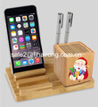 2017 Top Sale Bamboo Charger Station WoodenCharging Dock Display Holder for Apple Watch & smartphones