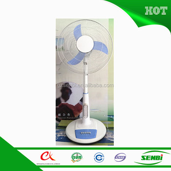 16inch new ac dc fan china 12v stand fan table fan with led lamp
