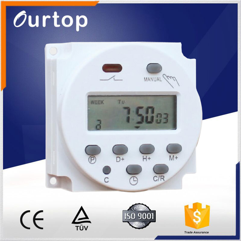 Cn101A Power Mechanical Programmable 12 Volt DC Timer Switch 220Vac 16A with Battery