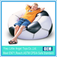 EN71 6P PVC football shape air chair inflatable living room sofas