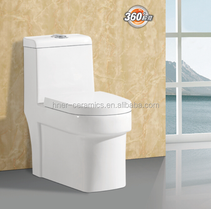bathroom sanitary ware one piece toilet, s-trap, siphonic chinese ceramic toilet
