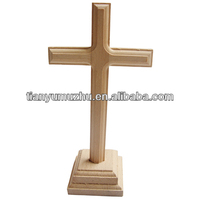 Natural unfinished wood crosses for room hanging