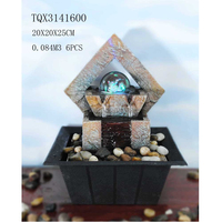 Mini Rhombic Stone Water Fountain with Crystal Rolling Ball
