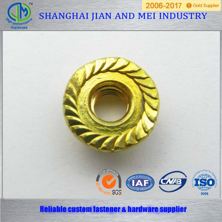 Ansi/asme b18.2.2 large flange brass nut m3