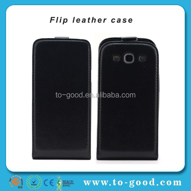 hot amazon products leather cover case for samsung galaxy S3,flip cover for galaxy S3,cases for galaxy S3 (Black)