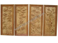 Carved Wood Wall Hanging Picture ( TH 3397)