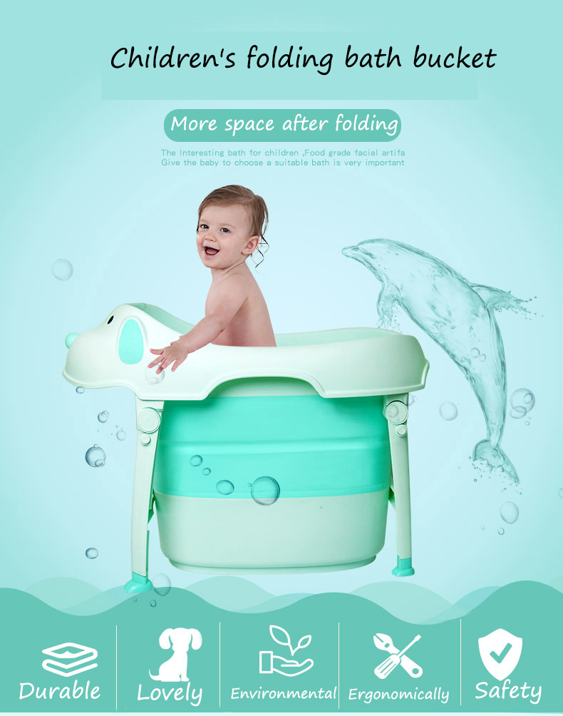 2018 new design plastic baby bath tub foldable