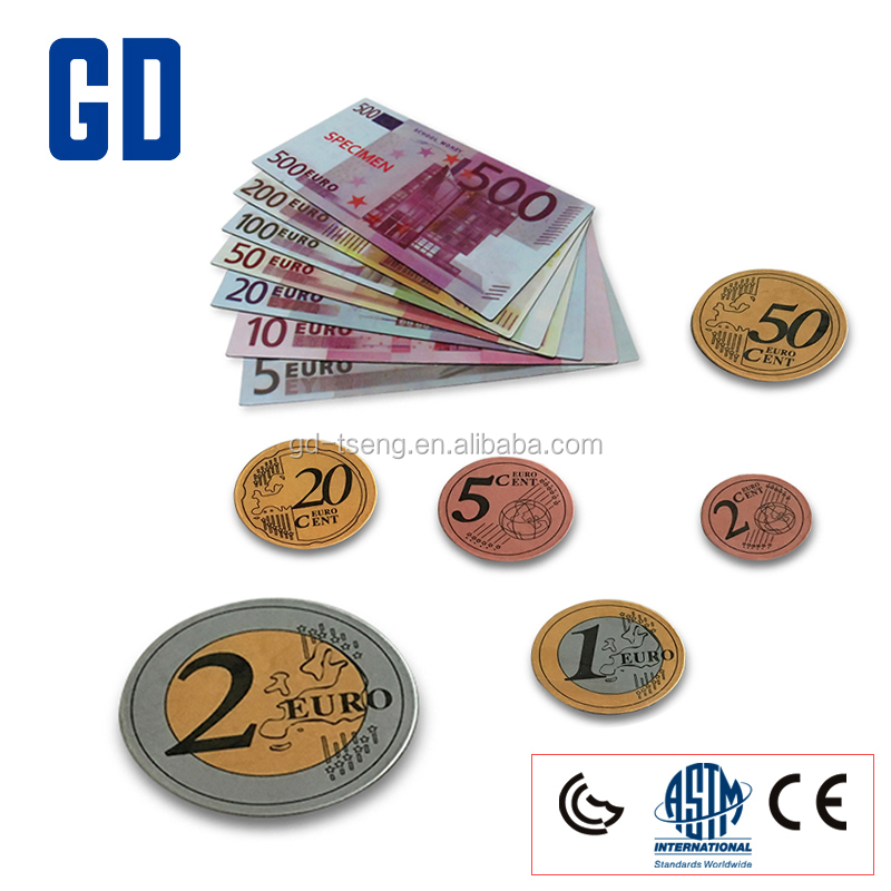 GD- Teaching Euro Aids, 13 Pcs Euro Set Play Money/fun school toys