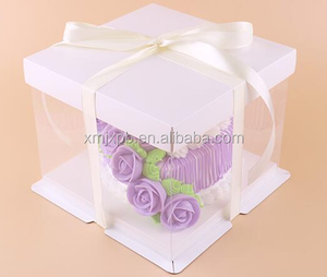 Square Visible Clear Plastic Paper Packaging Birthday Cake Box