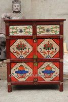 Chinese Antique Furniture in Living Room Cabinets