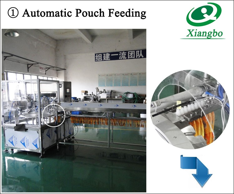 Spout pouch filling capping machine stand up pouch machine