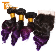 Malaysian Wave Two Tone Human Hair Weft Loose Wave Wholesale Hair Extensions China 6A Grade 24 inch Human Hair Weave Extension