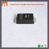 Single Phase 1.0A SMA Glass Passivated Rectifier A1