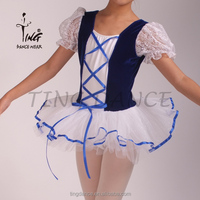 2015 new puffed sleeves little girls' dance costume