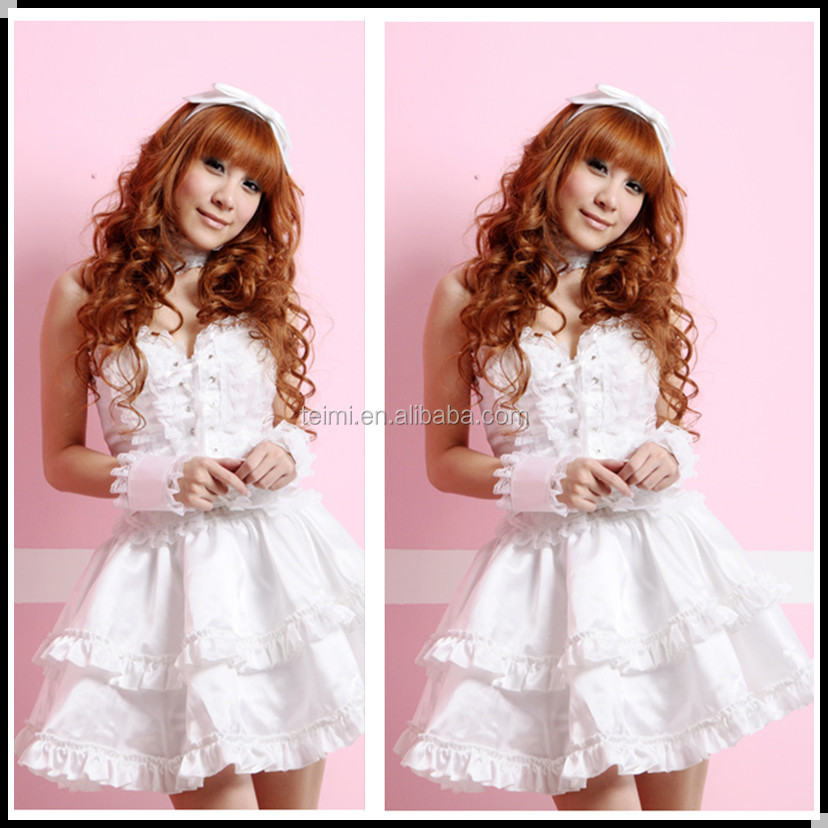 2014 new hot sale white lace lolita clothing