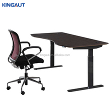 Electric Height adjustable standing reception desk half round office small reception desk