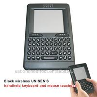 Cheap wireless UNISEN'S handheld PC keyboard and mouse touchpad Black