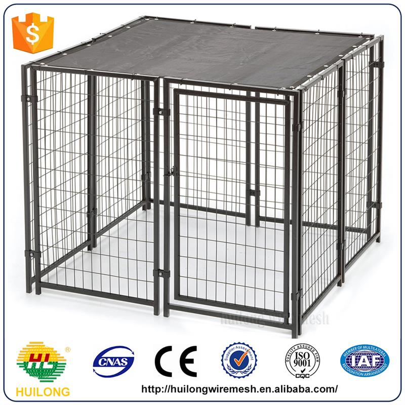 Wholesale Galvanized Or Powder Coating Dog Kennels Cages For Sale Huilong factory