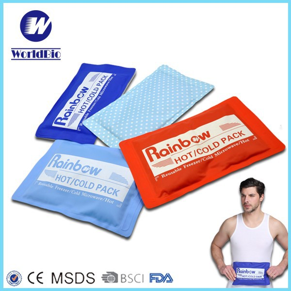 Rainbow hot cold pack gel cooling pad