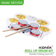 new electornic roll up children drum set MD1008