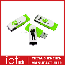 Cool and Novelty Custom Logo Swivel USB Stick with Factory Price