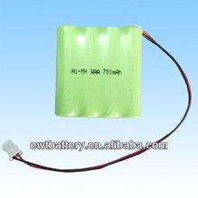 4.8v AAA Ni-MH rechargeable battery pack 700mAh