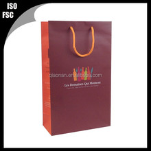 wine or tea paper shopping bag packaging