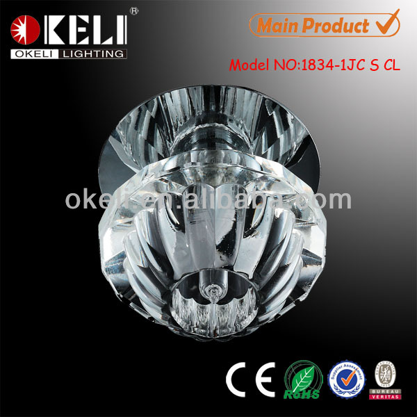 Beautiful design false ceiling crystal downlight G4 decorative fitting