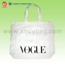 Fashion Custom Printed Plain Blank Cotton Tote Bags