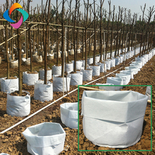 Durable non-woven fabric cloth sewing geotextile planting seed grow construction bag with good quality