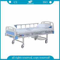 AG-BYS203 cheap patient crank manual hospital bed medical equipments home care nursing beds