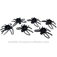 Indain handicarft art and craft six pieces running black spiders tea light holder